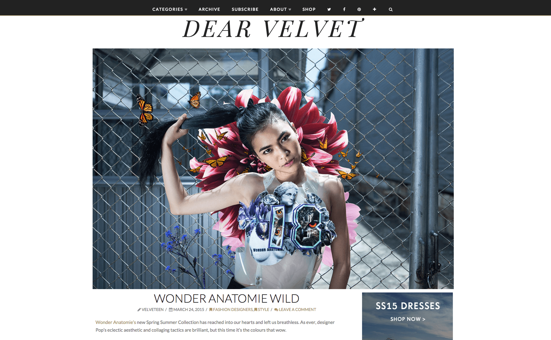 "Dear Velvet London ""Wonder Anatomie"" & Studio Supreme"