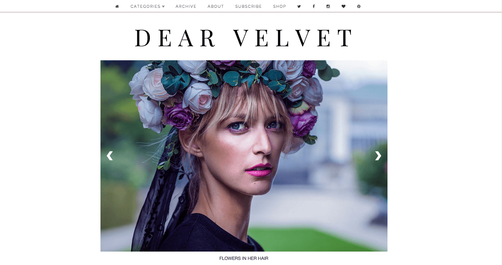 Flower in the Hair, photography editorial on Dear Velvet London