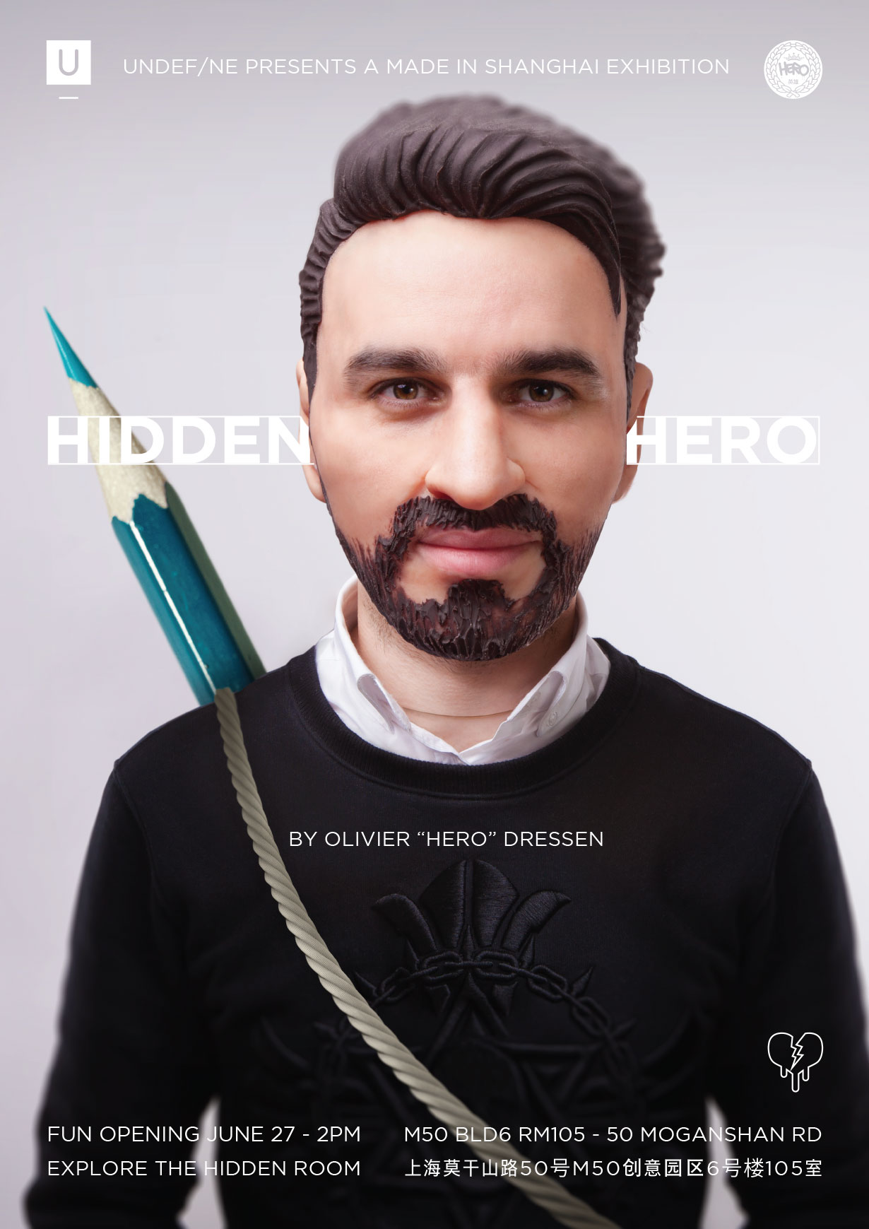 "Solo exhibition in Shanghai ""Hidden Hero"""